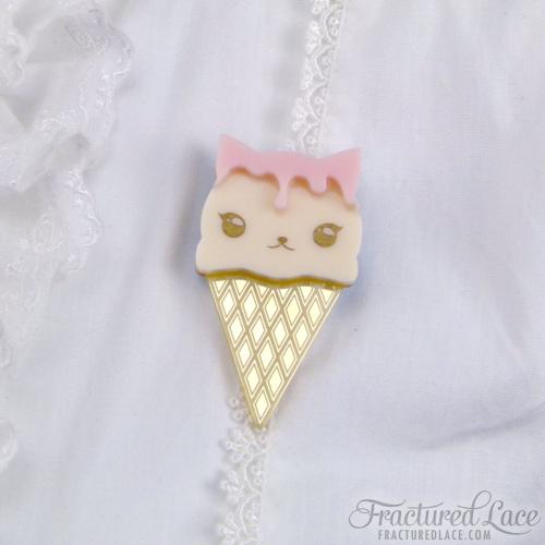 ice cream kitty pink