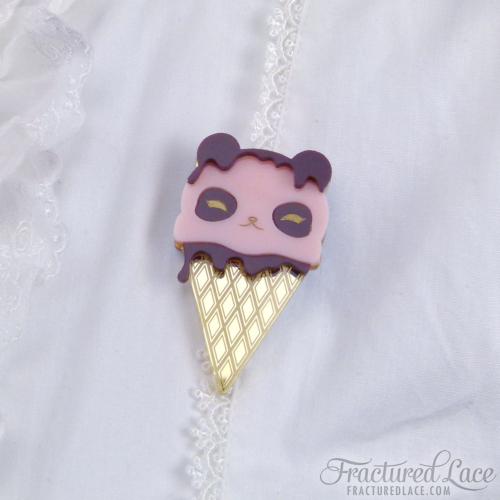 panda icecream pink