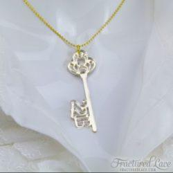 sherlock key to 221b necklace - close-compressed