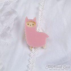 alpaca facing left pink-compressed