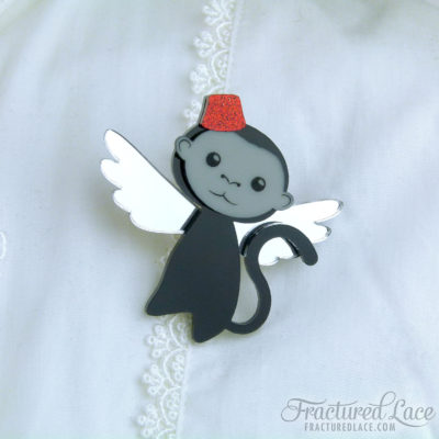 Flying Monkey Brooch - Wizard of Oz Inspired