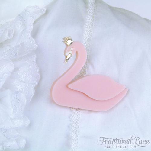 Pinkie - Swan Lake Brooch