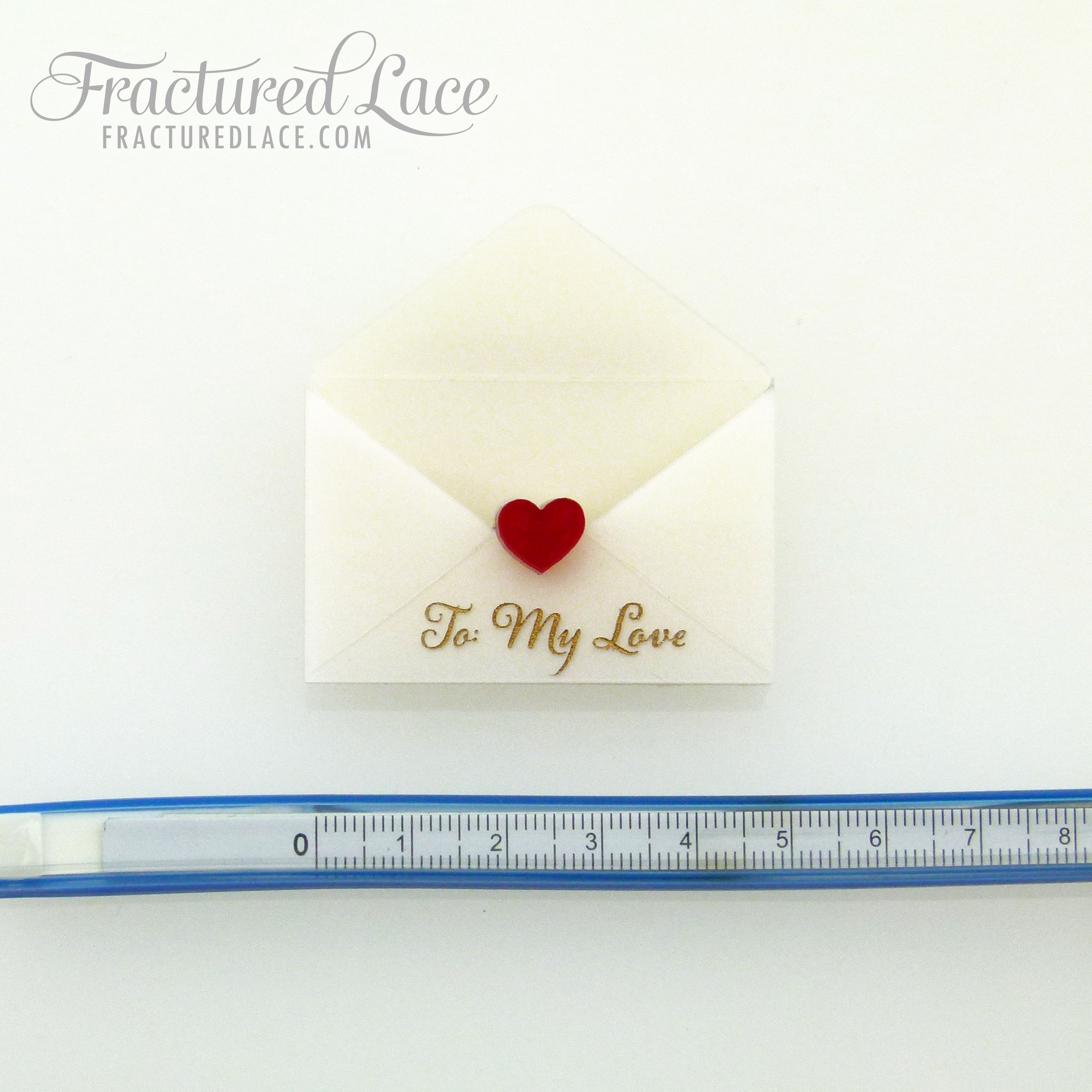 Love Letter Brooch Set - Red Seal | Fractured Lace